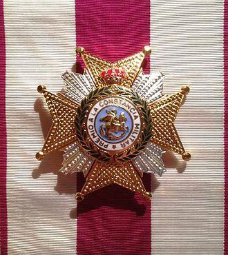 Royal and Military Order of Saint Hermenegild - Badge of the Order.