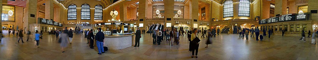 Panorama do interior da Estação Grand Central