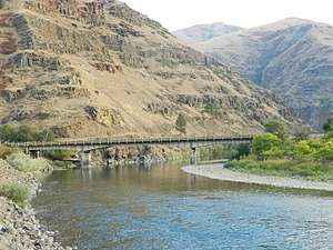 National Register of Historic Places listings in Asotin County, Washington - Image: Grande Ronde River Bridge. SR 129, Washington