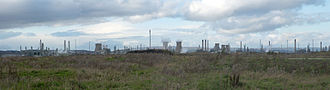 Grangemouth Refinery - Panorama of Grangemouth petrochemical works, November 2006