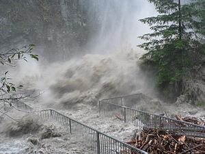 Pineapple Express - November 2006 flood, Granite Falls on the Stillaguamish River, Washington