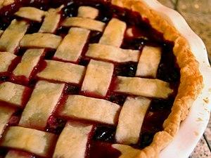 Grape pie - A Concord grape pie