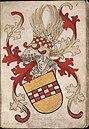 Graue vander Mercke - Graaf van der Mark - Count van der Mark - Wapenboek Nassau-Vianden - KB 1900 A 016, folium 06r.jpg