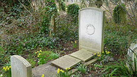 Williams' grave at Holywell Cemetery in Oxford Grave of Charles Williams at Holywell.jpg
