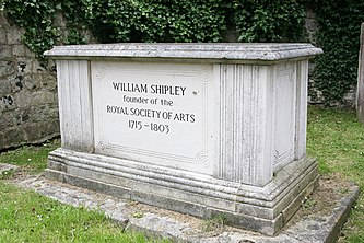 Grave of William Shipley, founder of the RSA 0725.JPG