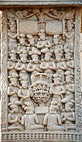 Great Miracle at Savrasti (also called Miracle of the Mango Tree) Sanchi Stupa 1 Northern Gateway.jpg