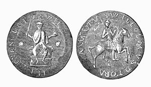 Ernulf de Hesdin - William Rufus depicted enthroned and on horseback on his great seal.