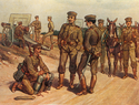 Greek soldiers in khaki uniforms, 1910