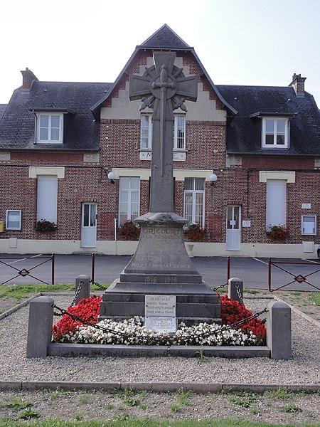 Gricourt (Aisne) monument aux morts