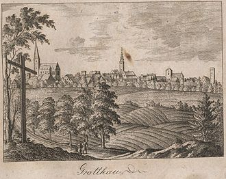 Grodków - View of Grottkau, 1819