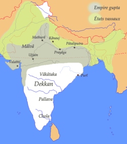 Gupta Empire at its greatest extent.