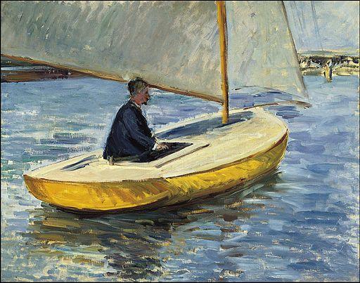 Gustave Caillebotte - Le bateau jaune