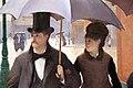 Gustave caillebotte, strada parigina, giorno di pioggia, 1877, 02.jpg
