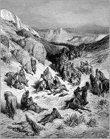 Gustave Dore kruistochten het Syrische leger door een zand storm.jpg