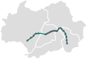 Gwangju Metro - Image: Gwangju Metro map geo