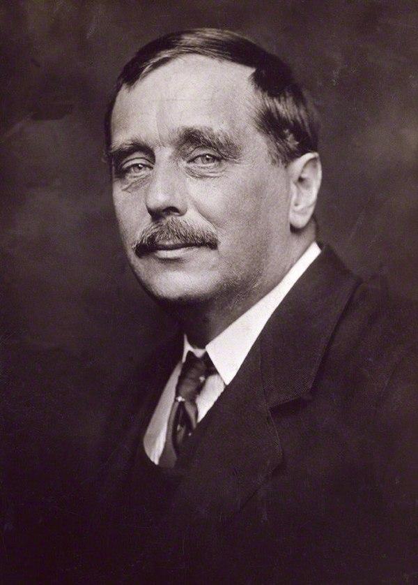 Photo H.G. Wells via Wikidata