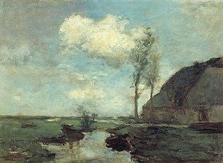 Boerderij in het polderland