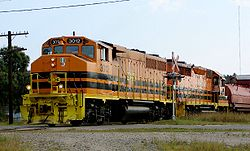 HCRY train in Massey, Ontario