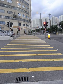 Pedestrian crossing Place designated for pedestrians to cross a road, street or avenue