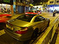 HK SYP Queen's Road West night Benz AMG grey car parking Jan-2016 DSC (4).JPG