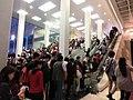 HK TST night Harbour City front stairs n escalators visitors May-2013.JPG