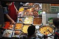 HK Wan Chai 柯布連道 O'brien Road night Lockhard Road Hong Kong Building sidewalk shop street snack food Sept 2017 IX1 01.jpg