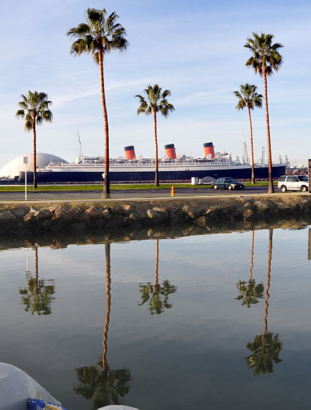 RMS Queen Mary in Long Beach Harbor HMSQueenMary photo D Ramey Logan.JPG