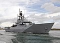 HMS Clyde Leaving Portsmouth MOD 45151373.jpg