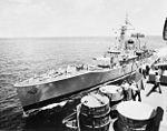 HMS Danae (F47) refueling from USS Kearsarge (CVS-33) 1969.jpg