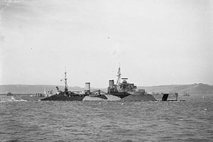 Corfu Channel incident - Light cruiser HMS Mauritius was present during the second incident