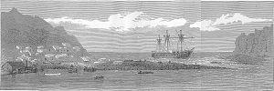 Île Saint-Paul - HMS Megaera at St Paul Island.