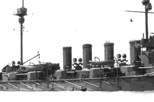 BL 7.5-inch Mk II – V naval gun - Starboard secondary Mk V battery on HMS ''Minotaur''