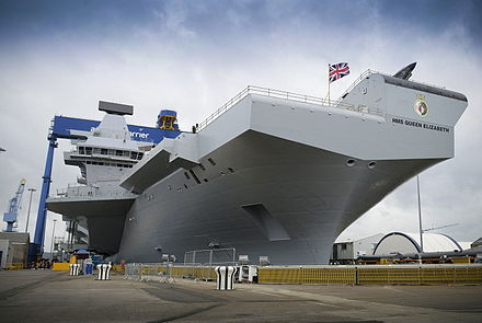 Both Queen Elizabeth-class aircraft carriers will now enter service.