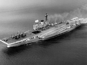 Illustrious-class aircraft carrier - Victorious in 1959