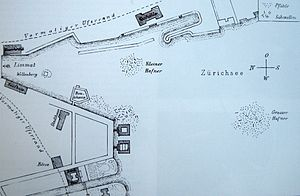 Zürich–Enge Alpenquai - Plan by Ferdinand Keller