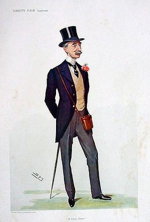"William Walker, 1st Baron Wavertree - ""A Lucky Owner"" William Walker as caricatured by Spy (Leslie Ward) in Vanity Fair, June 1906"
