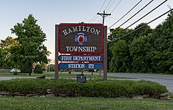 Hamilton Township Fire Department Sign