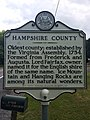 Hampshire County Historical Marker Paw Paw Road Woodrow WV 2014 09 11 01.jpg