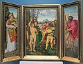 Hans baldung grien, martirio di santo sebastiano coi santi stefano, cristoforo, apollonia, dorotea, 1507, 01.JPG