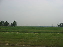 Fields in southwestern Harris Township