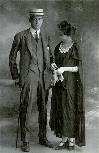 Caresse Crosby - Harry and Polly Crosby on the day of their marriage on September 9, 1922.