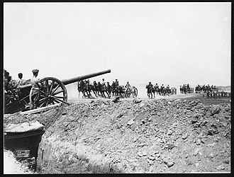 1st North Riding Artillery Volunteers - 4.7-inch gun and ammunition limbers