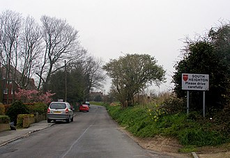 South Heighton - Image: Heighton Road, entrance to South Heighton from Denton geograph.org.uk 724888