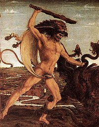 Hercule et l'Hydre, par Antonio del Pollaiolo (v.1460)