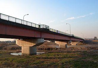 Sayama, Saitama - Hirose bridge, over the Iruma River