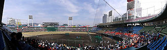 Hiroshima Toyo Carp - View from Hiroshima Municipal Stadium on March 14, 2004.