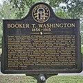 Historical marker for Booker T. Washington in Piedmont Park.jpg