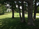Hole 9 close tee at Lochness Park disc golf course.JPG