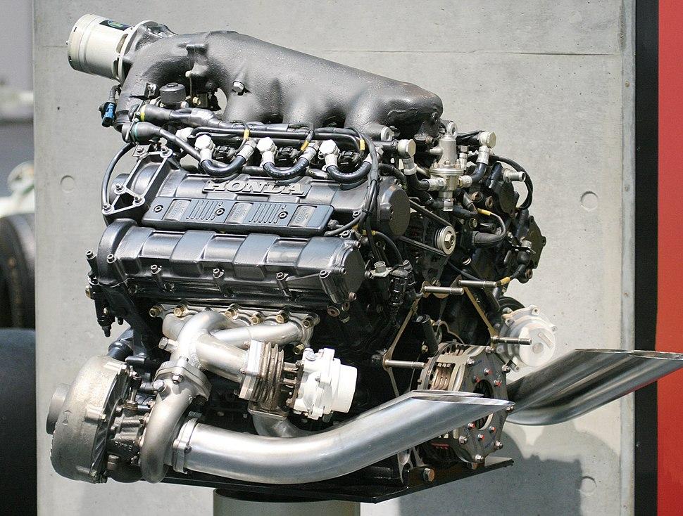 Honda RA168E engine rear Honda Collection Hall