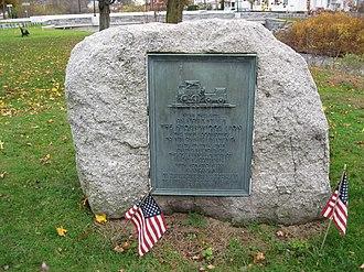 Stourbridge Lion - A plaque commemorating the Stourbridge Lion at Honesdale, Pennsylvania